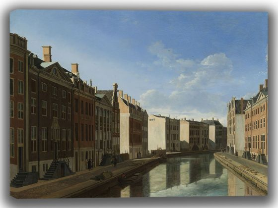 Berckheyde, Gerrit Adriaenszoon: View of the Golden Bend in the Herengracht. Fine Art Canvas. Sizes: A4/A3/A2/A1 (004036)